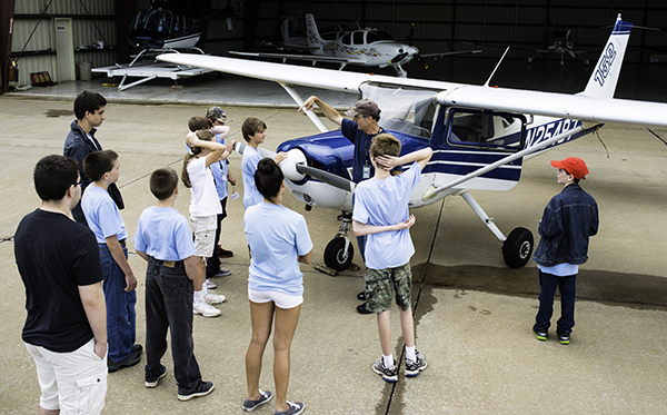Teaching at aviation summer camp